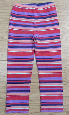 Pumpkin Patch Girls Leggings Age 3-4 Years Red Striped