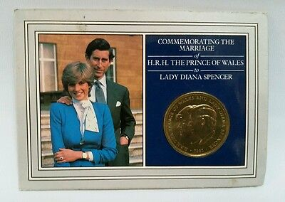 Commemorating the Marriage of Prince Charles & Lady Diana Spencer 1981 25p Coin.