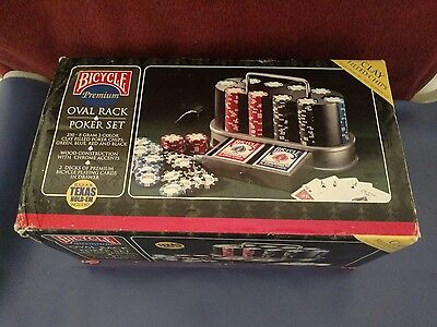 Bicycle Premium Oval Rack Poker Set - clay chips - never opened