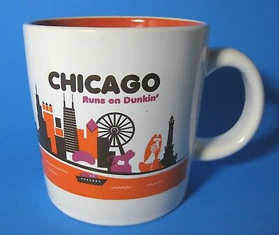 2012 Chicago Runs on Dunkin Donuts Coffee Mug Destination Series