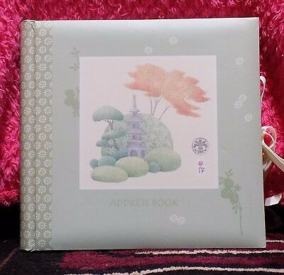 Address Password Book Green 10X8.5X1In. Chinese Tranquil Pictures (New) Lot Of 3