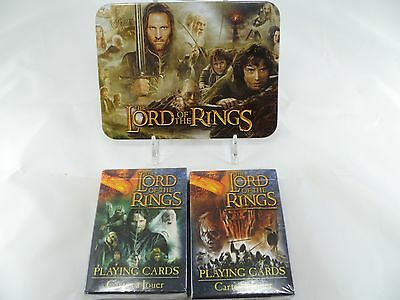 Lord Of The Rings Playing Cards 2 Standard Game Decks Limited Collectable Tin