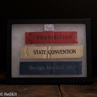 Prohibition State Convention 1904 Oswego NY Ribbons