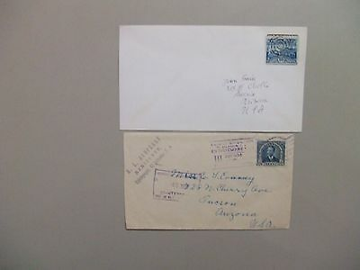 Two old S.America covers:Salvador 1937 registered,Costa Rica '20 ?