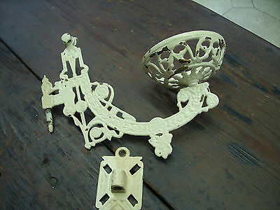 Antique Cast Iron Wall Lamp Sconce Victorian