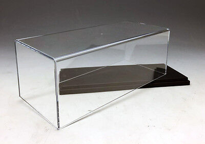 Plastic Display case show case with black plastic base for 1:43 1/43 Car model