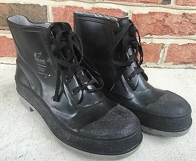 Men's Onguard Industries Black Rubber Steel Toe/Shank Boots Shoes size 9 USA