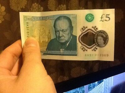 five pound note aa31 012369