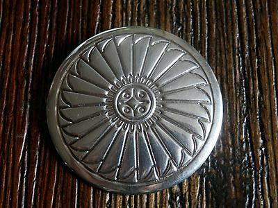 Native American Old Pawn Navajo Sterling Silver Sun Face Modernist Pin / Brooch
