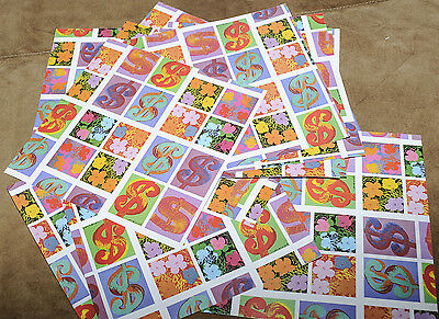 """Amazing bright coloured Andy Warhol pop art patterned craft paper 6 x 6 """" square"""