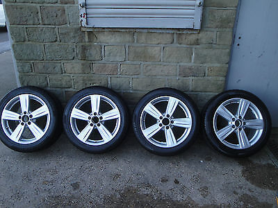 """mercedes benz alloy wheels, 17"""" with pirelli winter tyres, excellent condition"""
