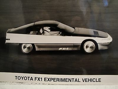 Toyota FX1 Experimental Vehicle Black and White Photograph