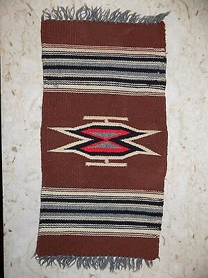 Vtg Hand Made Place Mat TableRunner Native/Navajo Tribal Style/Design VGC NR