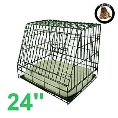 Ellie-Bo Deluxe Sloping Puppy Cage Folding Dog Crate with Non-Chew Metal Tray Fl