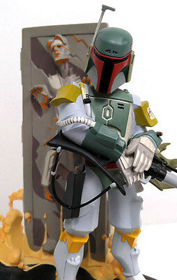 Gentle Giant Star Wars Boba Fett and Han Solo Entertainment Earth Excl Statue