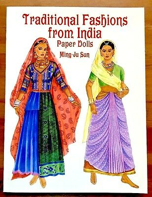 Traditional Fashions from India Paper Dolls by Ming-Ju Sun FREE SHIPPING