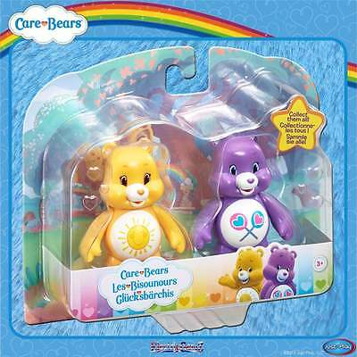 Care Bears Articulated 2 Figures Twin Pack - Funshine & Share- Yellow & Purple