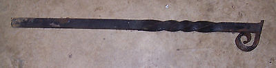 "Antique 1.25"" Square Iron Post with Twist 36"" Long -Steampunk Hardware 17 Pounds"
