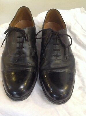 Air Cadet Black Leather Parade Shoes Size 10 Used Vgc