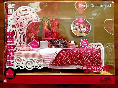 Barbie Fashion Fever Room Sweet Dreams Bed Playset (NEW) FREE SHIPPING