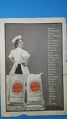 Vintage 1907 Gold Medal Flower*THE POWER BEHIND THE COOK* Print Ad