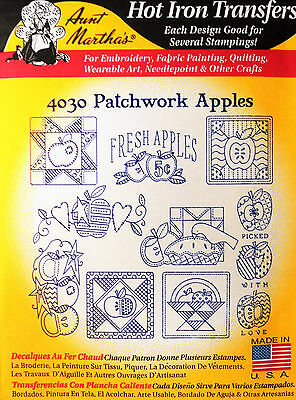 """Aunt Martha's Hot Iron Transfer # 4030 """" Patchwork Apples """""""