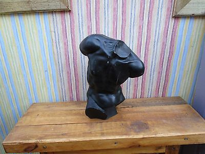 """13"""" Tall Stone/marble? Male Torso Bust Sculpture"""