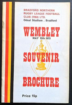 Bradford Northern 1973 Wembley Brochure Challenge Cup Final Featherstone Rovers