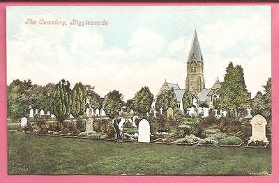 The Cemetery, Biggleswade, Bedfordshire postcard. Valentine's Series.