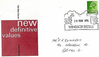1976 New Definitive Values Windsor Cds Fdc From Collection F7