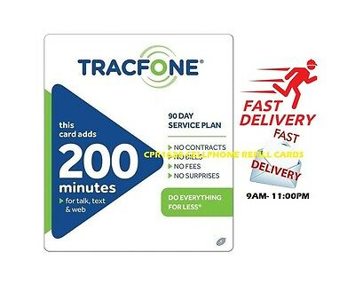 TracFone $39.99 Refill -- 200 Minutes / 90 Days, Loaded To Phone Directly
