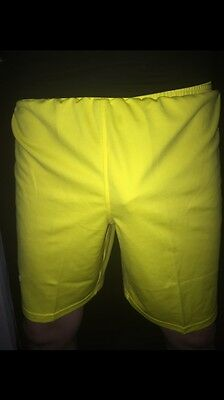 Yellow Soccer Shorts M