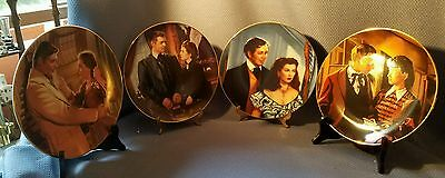 Vintage Set of 4 Gone with the Wind Plates