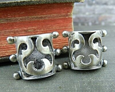 Victoria Ana Brilanti Taxco Mexico Sterling Silver Angel Earrings #53
