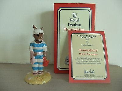 Bunnykins - Mother Bunnykins + Certificate- Royal Doulton - Boxed