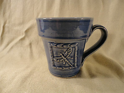 RPW Rowe Pottery Works Dragonfly Coffee Cup Mug Planter - Excellent