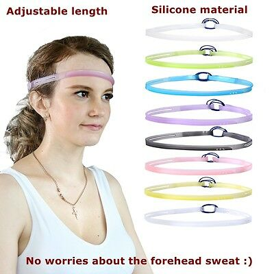 Silicone Sweat Control Head Band Sweat Bands Sweatband Headband Cycling GYM