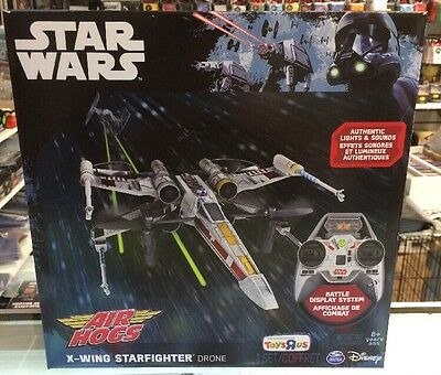 Air Hogs Star Wars X-Wing Star fighter Drone Toysrus EXCLUSIVE