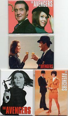 The Avengers - Fridge Magnets - New and Sealed - 4 Different - Ideal Present