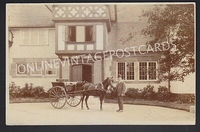 Staffordshire Horse & Trap Infront Of Large House Knypersley Near Stoke-On-Trent
