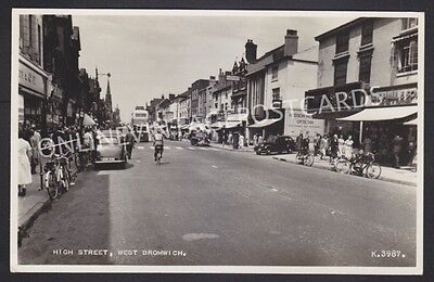 Staffordshire High Street West Bromwich Real Photo