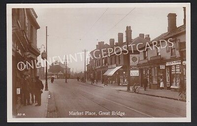 Staffordshire Market Place Great Bridge Real Photo