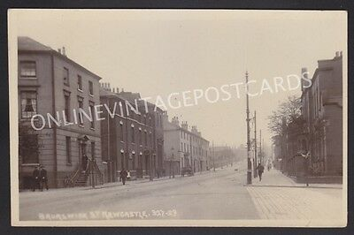 Staffordshire Brunswick Street Newcastle Stoke-On-Trent Real Photo