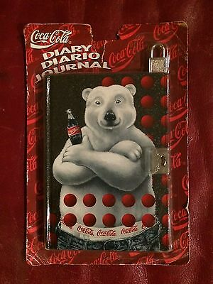 Coke Coca Cola Diary Journal Polar Bear With Lock and Key NIP
