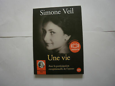 Une Vie / Simone Veil / Cd Audio Mp3 - Rare