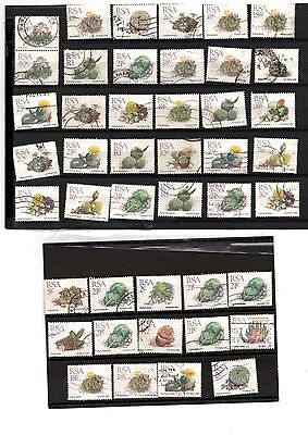 Rock or stone plant stamps x 69 thematics