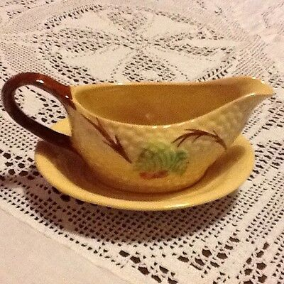 wade bramble gravy boat and saucer