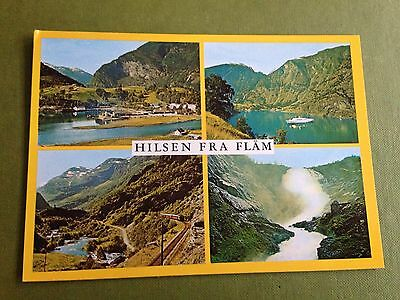 Norway Views From Flam & The Flam Valley Multiple Views Postcard Normann