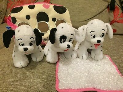 Disney Store 101 Dalmations Puppies In A Bag Lucky Roly Patch Soft Toy Plush