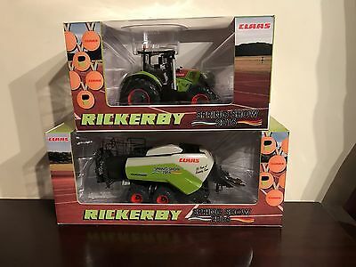 Usk Scalemodels 1/32 Scale Claas Tractor And Baler Rickerby Spring Show 2016